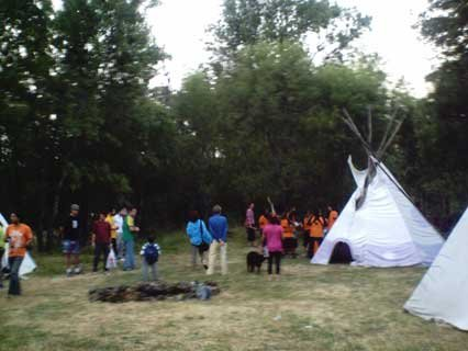 campamento tipis Tunkashila